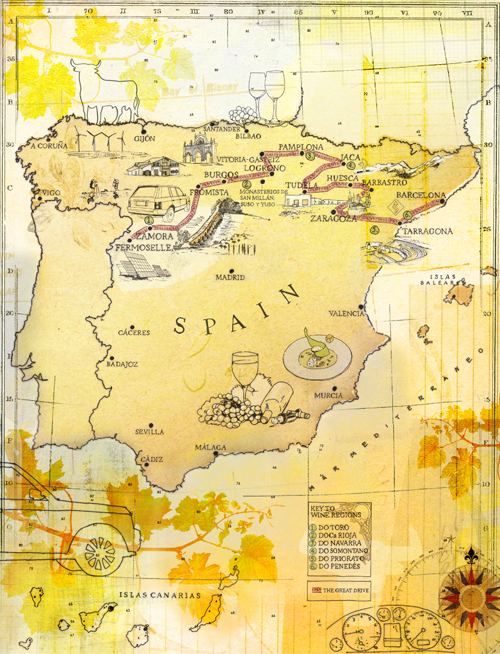 spain map rangerover Tina Zellmer IllustratorArtist