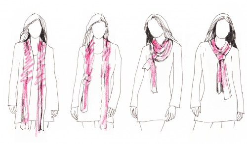 how to bind a scarf