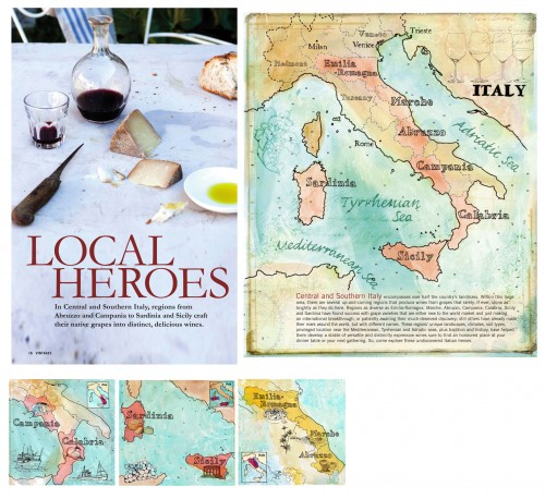 vintages wine maps
