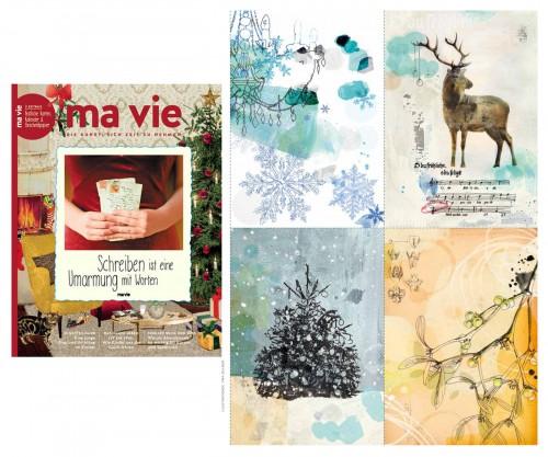 ma vie magazine weihnachtspostkarten